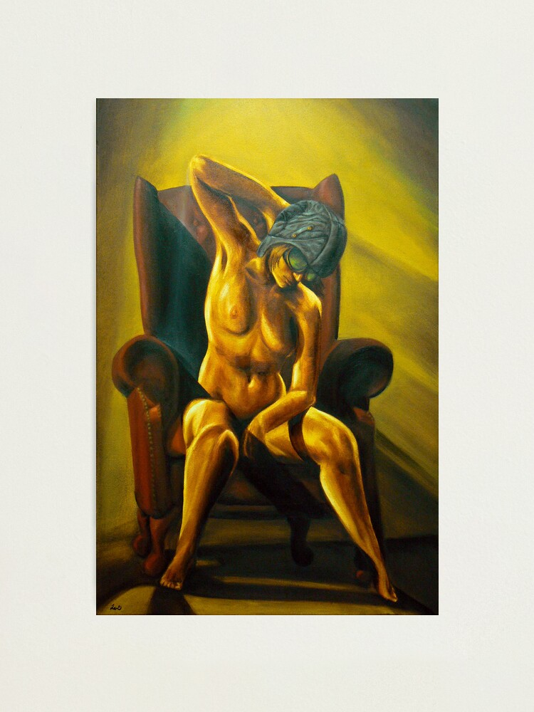 Alternate view of Aviatrix - Steampunk Nude art Photographic Print