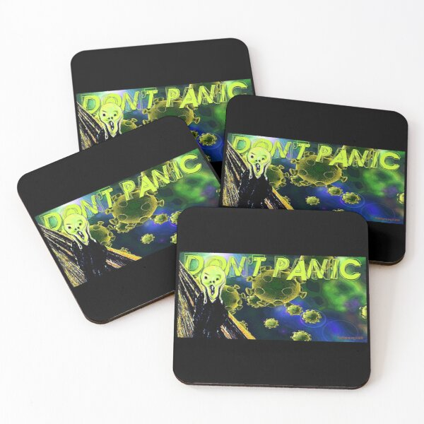 Don't Panic Coasters (Set of 4)