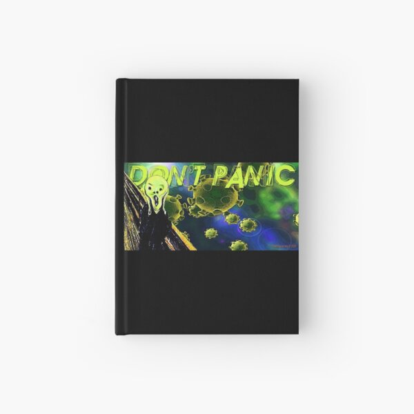 Don't Panic Hardcover Journal