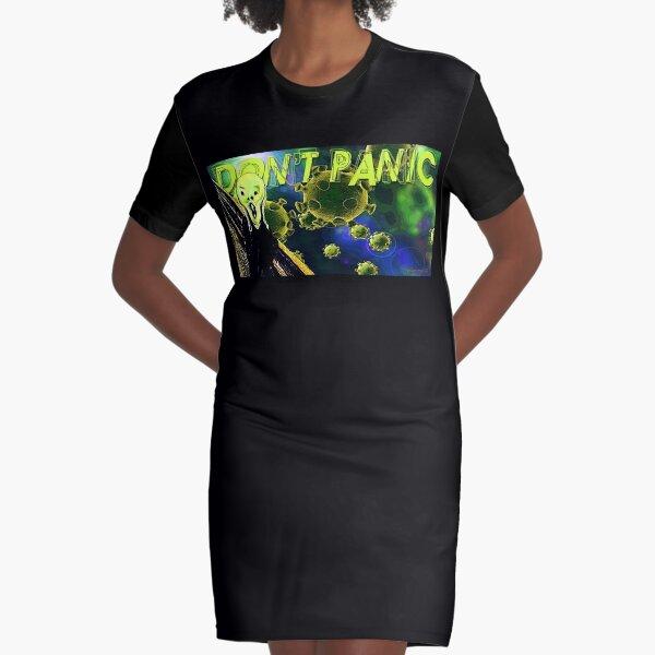 Don't Panic Graphic T-Shirt Dress