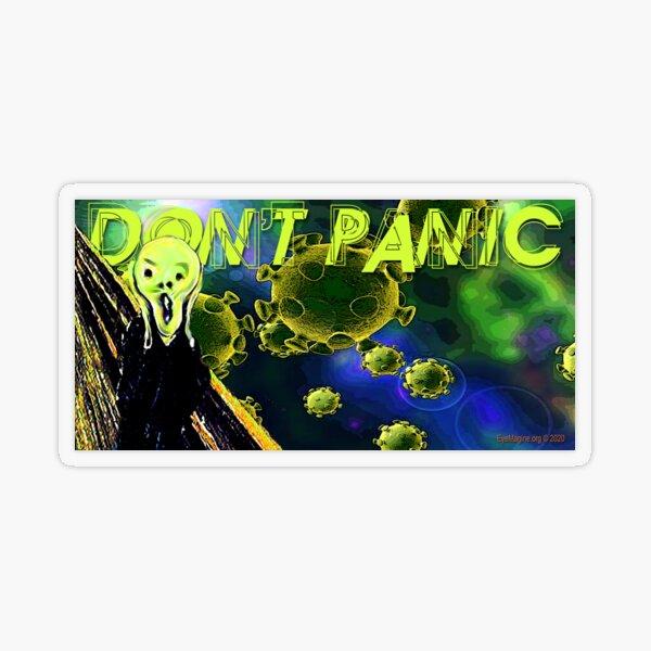 Don't Panic Transparent Sticker