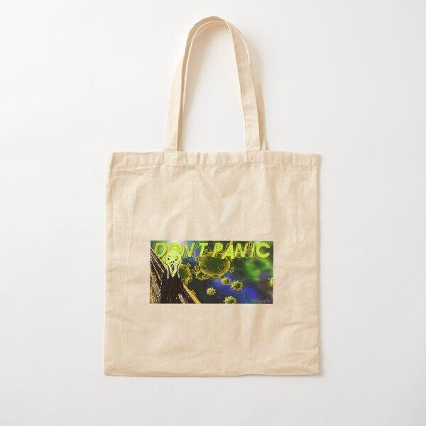 Don't Panic Cotton Tote Bag