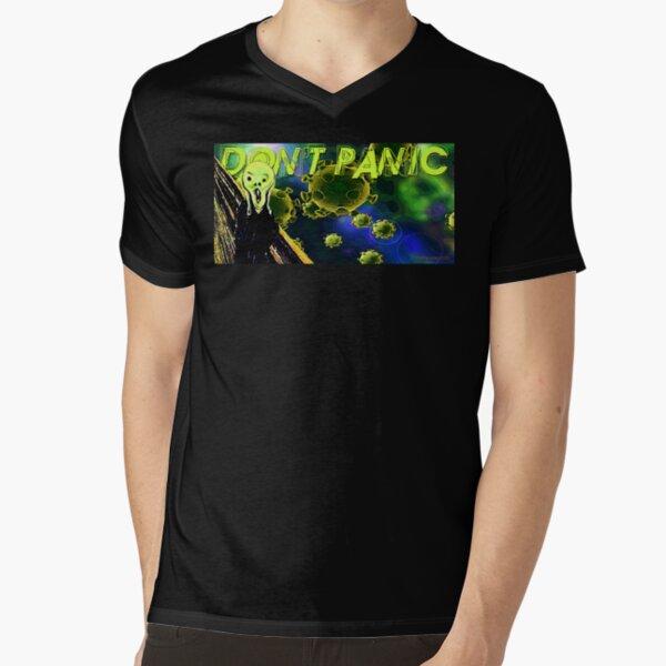 Don't Panic V-Neck T-Shirt