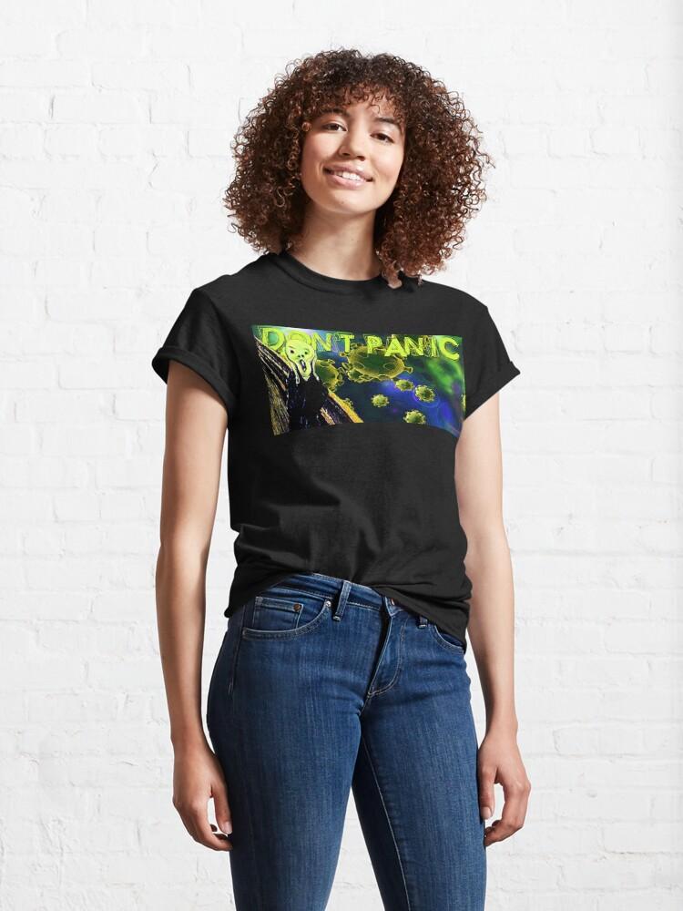 Alternate view of Don't Panic Classic T-Shirt