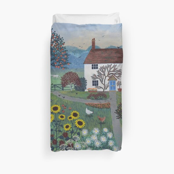 Apple Tree Cottage Duvet Cover