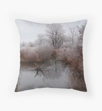 Closed for Winter Throw Pillow