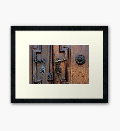 Door details, Gyor Cathedral Framed Print