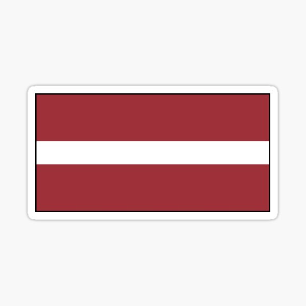 Latvia Flag Stickers, Gifts and other Products Sticker