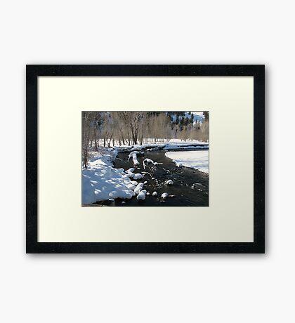 Little Big Wood River, Ketchum, Idaho; USA Framed Print