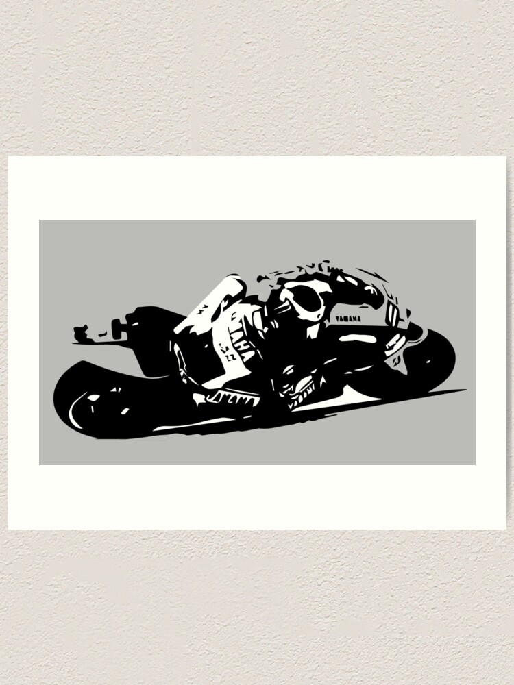 Yamaha Yzr M1 Motogp Art Print By Fromthe8tees Redbubble