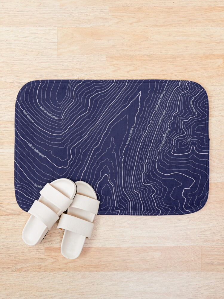 Alternate view of Psychology things - Maslow's HIERARCHY of NEEDS Bath Mat