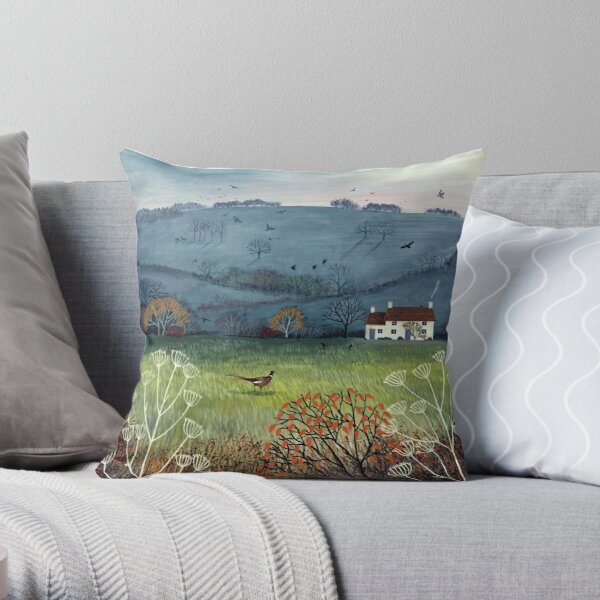 Cottage by Misty Hill Throw Pillow