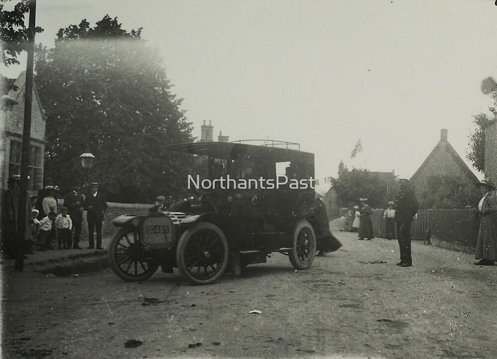 Vintage photo - car in Addington, Northamptonshire by NorthantsPast