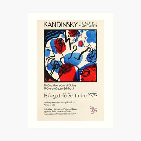 Kandinsky Exhibition poster 1979 Art Print