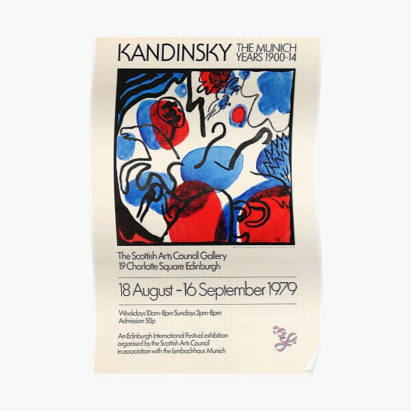 Affiche de l'exposition Kandinsky 1979 Poster