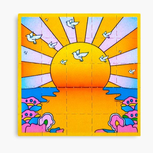 California Sunshine Blotter Canvas Print