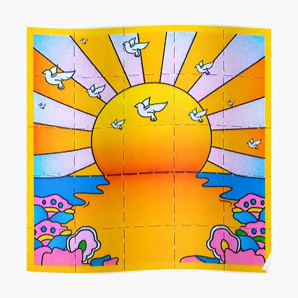 California Sunshine Blotter Poster