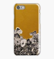 Golden Ochre Woodcut Print iPhone Case/Skin