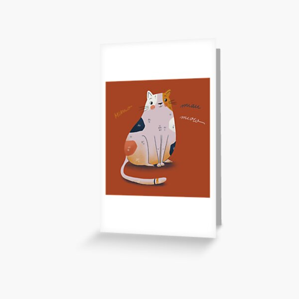 Cat Red Grußkarte