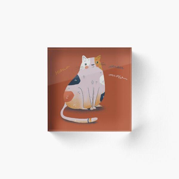 Cat Red Acrylblock