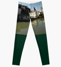 Indres River Reflections, Loches, France 2012 Leggings