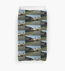 Indres River Reflections, Loches, France 2012 Duvet Cover