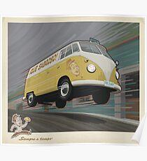 Vintage Air-Cooled Van Poster Poster