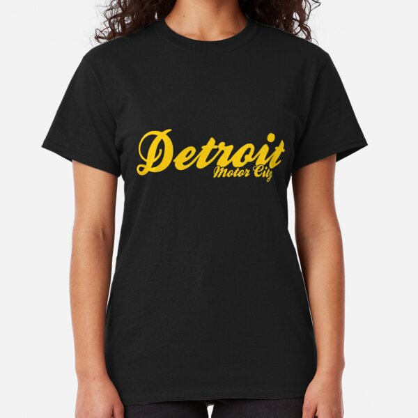 LS D-Town Motor City Michigan Men Youth Detroit Gothic Long Sleeve T-shirt