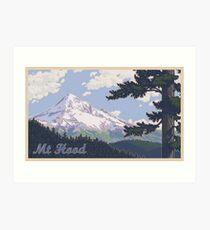 Vintage Mount Hood Travel Poster Kunstdruck