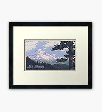 Lámina enmarcada Cartel de viaje Vintage Mount Hood