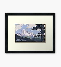 Vintage Mount Hood Travel Poster Framed Print