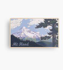 Vintage Mount Hood Travel Poster Metal Print