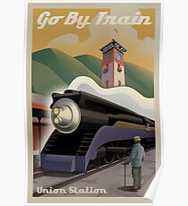 Vintage Union Train Station Poster