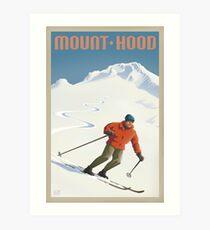 Vintage Ski Mount Hood Travel Poster Kunstdruck