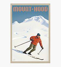 Vintage Ski Mount Hood Travel Poster Photographic Print