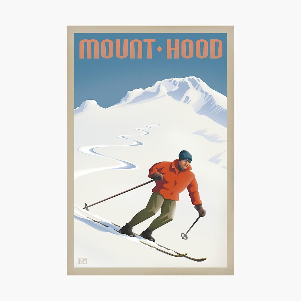 Vintage Ski Mount Hood Travel Poster Fotodruck