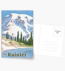 Vintage Mount Rainier Travel Poster Postcards