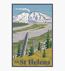 Vintage Mount St. Helens Travel Poster Photographic Print