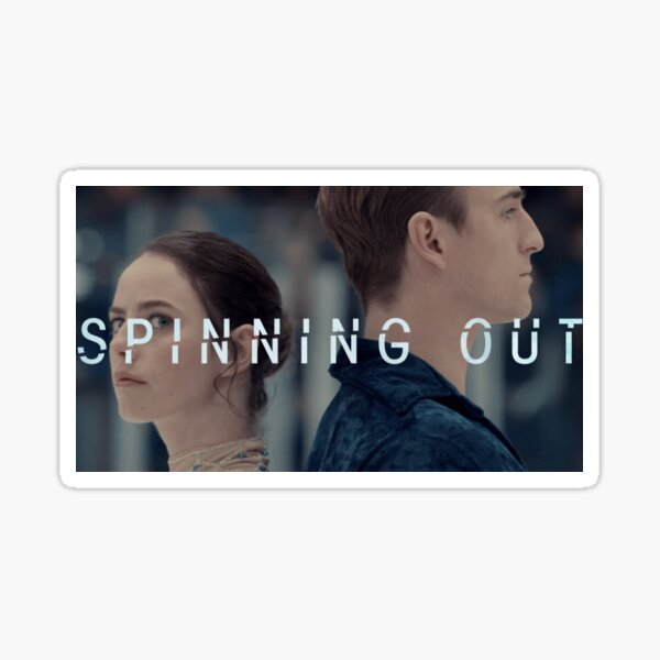 Spinning Out V Sticker
