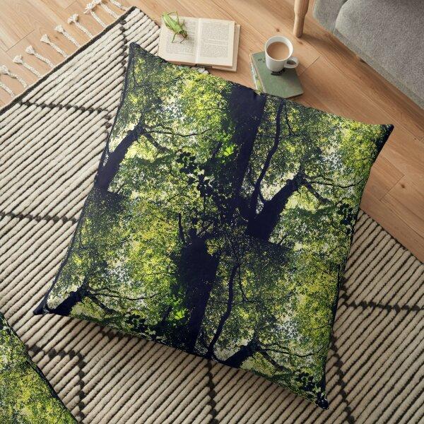 Woodland canopy Floor Pillow