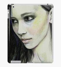 Black hair iPad Case/Skin