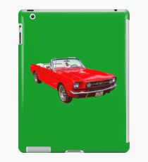 1965 Red Ford Mustang Convertible iPad Case/Skin