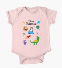 I Love Science (black version) One Piece - Short Sleeve
