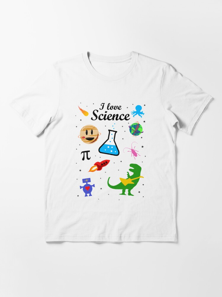 Alternate view of I Love Science (black version) Essential T-Shirt