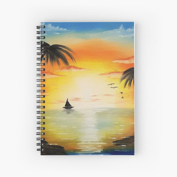 Tropical Sunset Painting Spiral Notebook