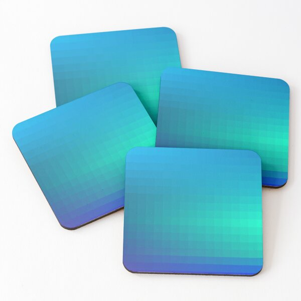 Blue Seagreen Ombre Coasters (Set of 4)