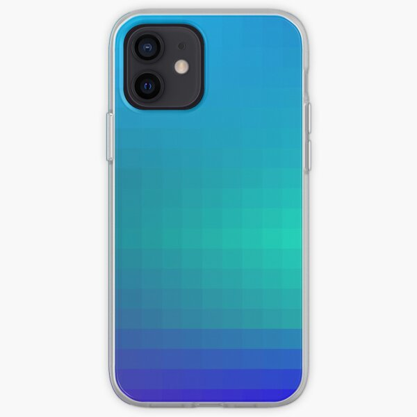 Blue Seagreen Ombre iPhone Soft Case