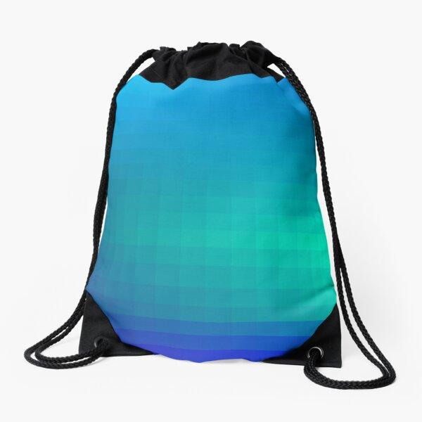 Blue Seagreen Ombre Drawstring Bag