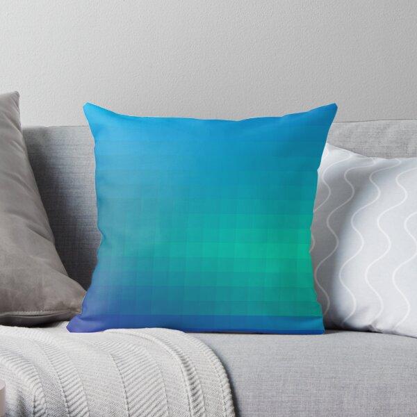 Blue Seagreen Ombre Throw Pillow