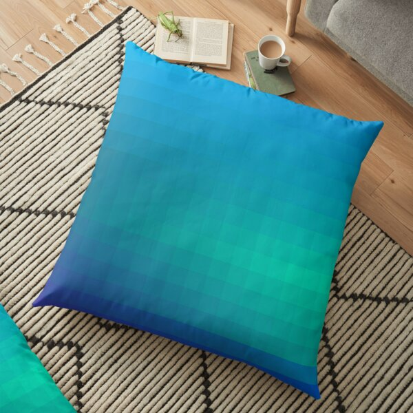 Blue Seagreen Ombre Floor Pillow
